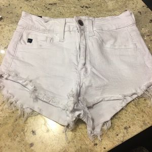 Pants - Kankan high waisted white jean distressed shorts